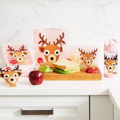 3Sprouts® Steklenička s slamico Bambi