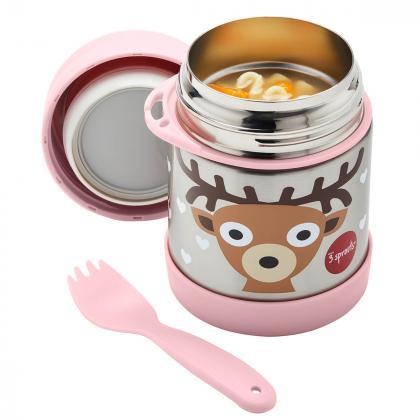 3Sprouts® Termo posodica s priborom 325 ml Bambi