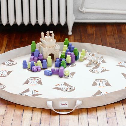 3Sprouts® Vreča za shranjevanje igrač in igralna podloga Sovica