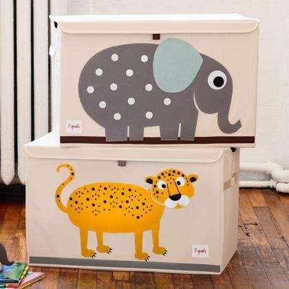 3Sprouts® Zabojnik za shranjevanje igrač Leopard