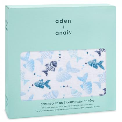 Aden+Anais® Bombažna odejica Gone Fishing