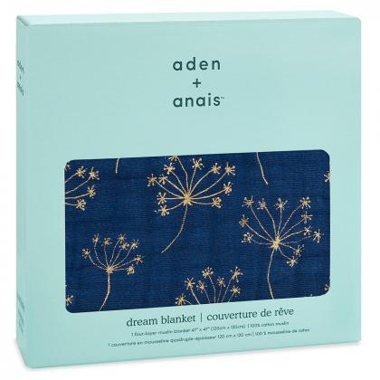 Aden+Anais® Bombažna odejica Metallic Gold Deco