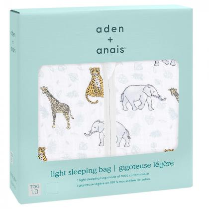Aden+Anais® Klasična letna spalna vreča Tog 1.0 Jungle