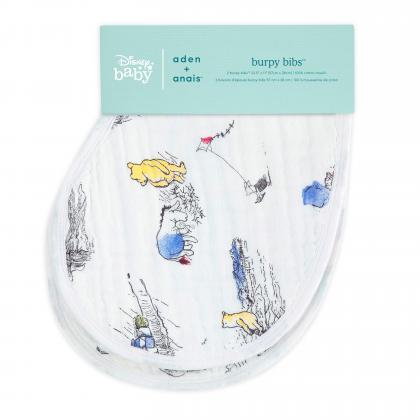 Aden+Anais® Komplet 2 večnamenskih bombažnih slinčkov Disney Winnie the Pooh