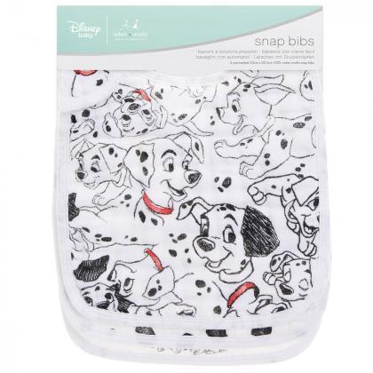 Aden+Anais® Komplet 3 bombažnih slinčkov Disney 101 Dalmatians