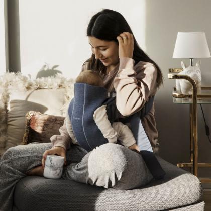 BabyBjörn® Ergonomska nosilka Mini Jersey 3D Dove Blue
