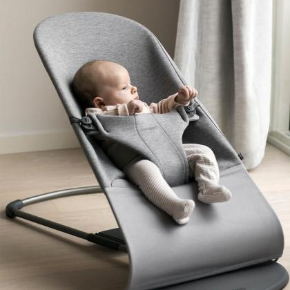 BabyBjörn® Gugalnik Balance Bliss 3D Jersey Light Grey