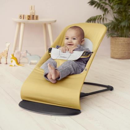 BabyBjörn® Gugalnik Balance Soft Cotton Yellow/Grey