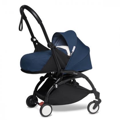 Babyzen® Yoyo+ Otroški voziček 3v1 Air France Black Frame +  iZi Go Modular™ by BeSafe® Grey