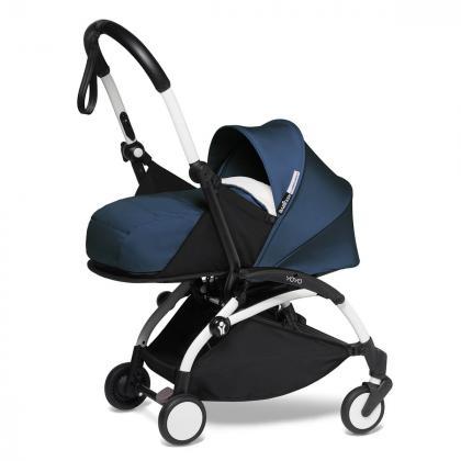 Babyzen® Yoyo+ Otroški voziček 3v1 Air France White Frame  +  iZi Go Modular™ by BeSafe® Grey