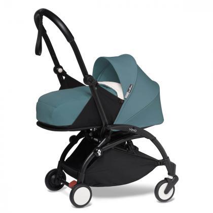Babyzen® Yoyo+ Otroški voziček 3v1 Aqua Black Frame  +  iZi Go Modular™ by BeSafe® Grey