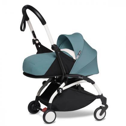 Babyzen® Yoyo+ Otroški voziček 3v1 Aqua White Frame  +  iZi Go Modular™ by BeSafe® Grey