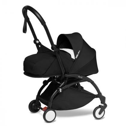 Babyzen® Yoyo+ Otroški voziček 3v1 Black Black Frame  +  iZi Go Modular™ by BeSafe® Grey