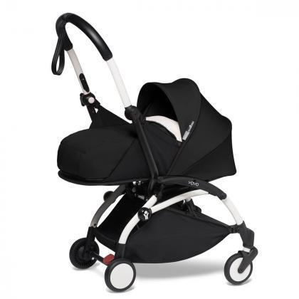 Babyzen® Yoyo+ Otroški voziček 3v1 Black White Frame  +  iZi Go Modular™ by BeSafe® Grey
