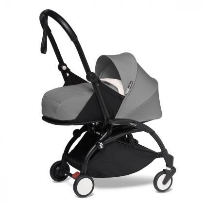 Babyzen® Yoyo+ Otroški voziček 3v1 Grey Black Frame  +  iZi Go Modular™ by BeSafe® Grey