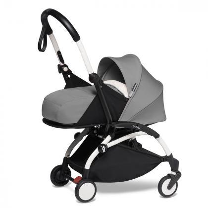 Babyzen® Yoyo+ Otroški voziček 3v1 Grey White Frame  +  iZi Go Modular™ by BeSafe® Grey