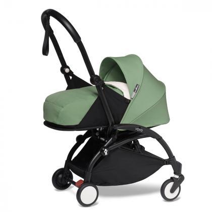 Babyzen® Yoyo+ Otroški voziček 3v1 Peppermint Black Frame  +  iZi Go Modular™ by BeSafe® Grey