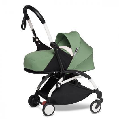 Babyzen® Yoyo+ Otroški voziček 3v1 Peppermint White Frame  +  iZi Go Modular™ by BeSafe® Grey