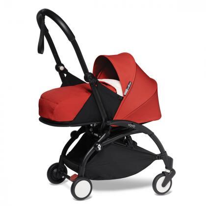 Babyzen® Yoyo+ Otroški voziček 3v1 Red Black Frame  +  iZi Go Modular™ by BeSafe® Grey