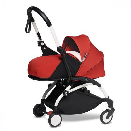 Babyzen® Yoyo+ Otroški voziček 3v1 Red White Frame  +  iZi Go Modular™ by BeSafe® Grey