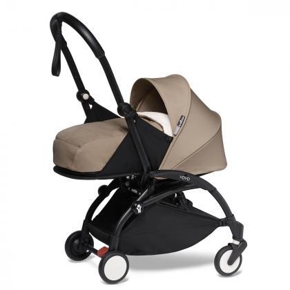 Babyzen® Yoyo+ Otroški voziček 3v1 Taupe Black Frame  +  iZi Go Modular™ by BeSafe® Grey