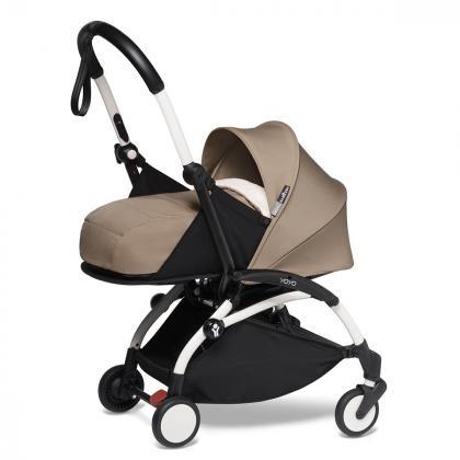 Babyzen® Yoyo+ Otroški voziček 3v1 Taupe White Frame  +  iZi Go Modular™ by BeSafe® Grey