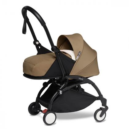 Babyzen® Yoyo+ Otroški voziček 3v1 Toffee Black Frame  +  iZi Go Modular™ by BeSafe® Grey