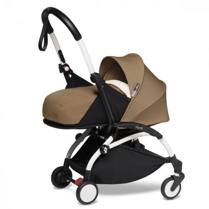 Babyzen® Yoyo+ Otroški voziček 3v1 Toffee White Frame  +  iZi Go Modular™ by BeSafe® Grey