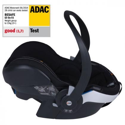 BeSafe® Otroški avtosedež iZi Go Modular™ X1 i-Size 0+ (0-13 kg) Premium Car Interior Black
