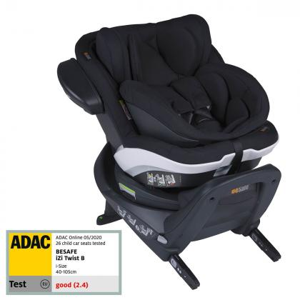 BeSafe® Otroški avtosedež iZi Twist™ B i-Size 0+/1 (0-18 kg) Fresh Black Cab