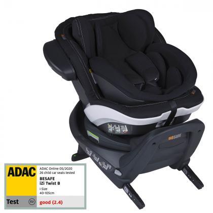 BeSafe® Otroški avtosedež iZi Twist™ B i-Size 0+/1 (0-18 kg) Premium Car Interior Black