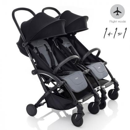 Bumprider® Otroški voziček Connect™ Black/Grey Melange