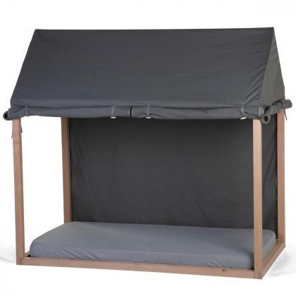 Childhome® Prevleka za posteljni okvir Hiška Anthracite 70x140