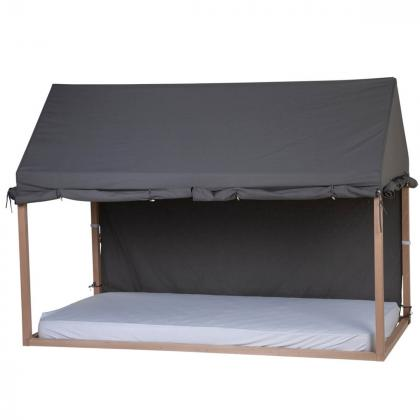 Childhome® Prevleka za posteljni okvir Hiška Anthracite 90x200