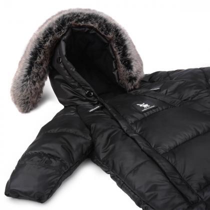 Cottonmoose® Pajac in Zimska vreča za dojenčka Black
