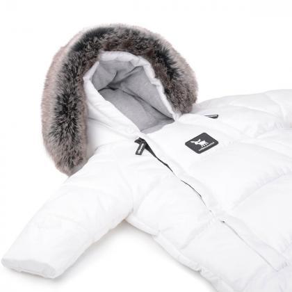 Cottonmoose® Pajac in Zimska vreča za dojenčka White