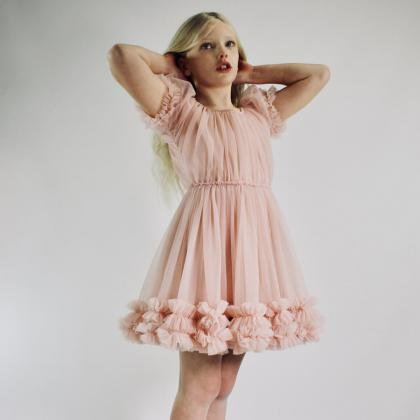 DOLLY by Le Petit Tom® Oblekica Frilly Ballet Pink