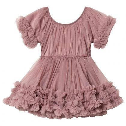 DOLLY by Le Petit Tom® Oblekica Frilly Mauve