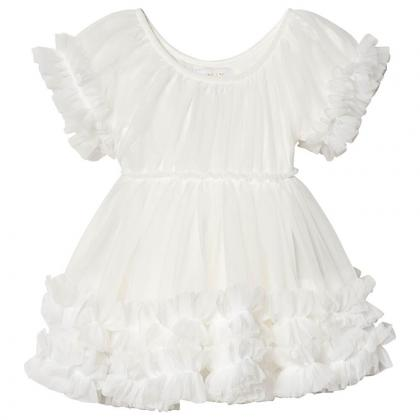 DOLLY by Le Petit Tom® Oblekica Frilly Off-White