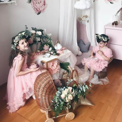DOLLY by Le Petit Tom® Oblekica Frilly Rose Pink