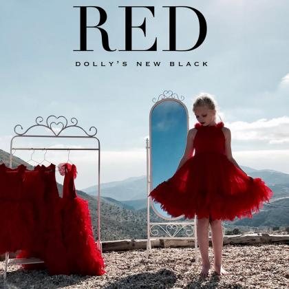 DOLLY by Le Petit Tom® Oblekica Rebellious Red