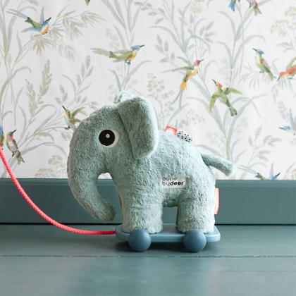 Done by Deer® Mehka igrača na kolesih slonček Elphee Blue