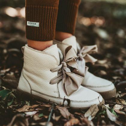 Donsje® Otroški topli čevlji Archie Organza Skin Leather