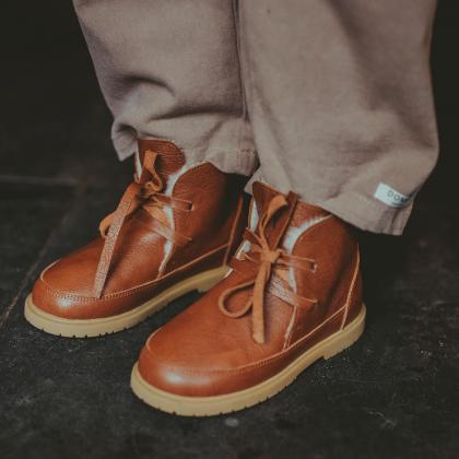 Donsje® Otroški topli čevlji Buddy Cognac Leather