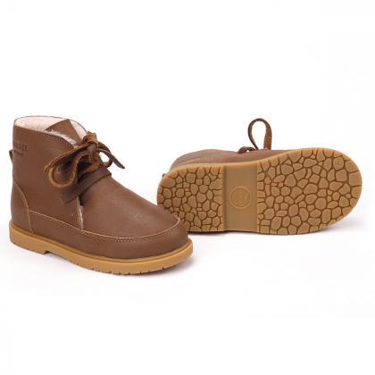 Donsje® Otroški topli čevlji Buddy Forest Green Leather
