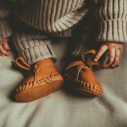 Donsje® Otroški topli čevlji Pina Classic Toast Grain Leather
