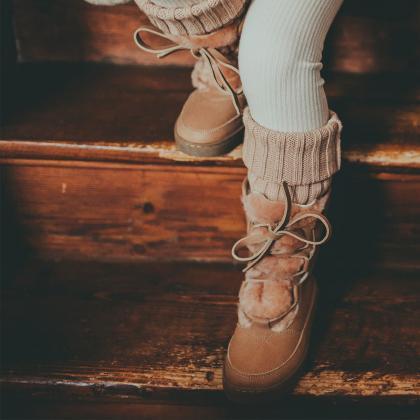 Donsje® Otroški topli škorenjčki Sonny Hazelnut Leather