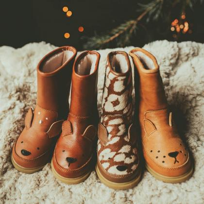 Donsje® Otroški topli škorenjčki Wadudu Bear
