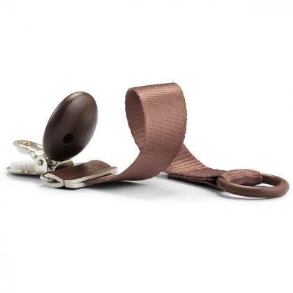 Elodie® Lesena priponka za dudo Chocolate
