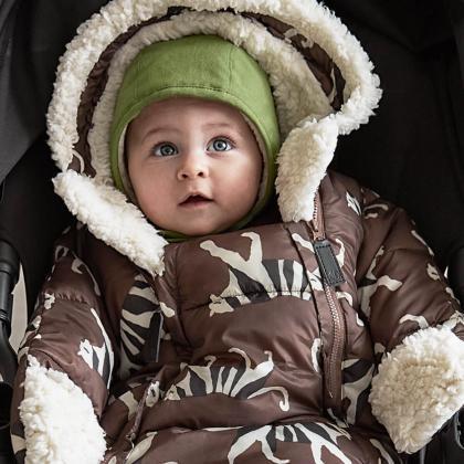 Elodie® Pajac in zimska vreča za dojenčka White Tiger